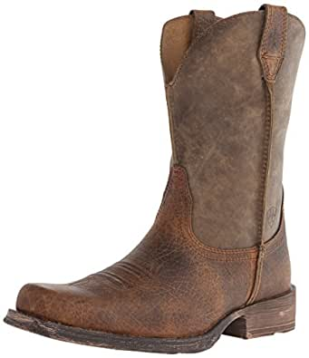 Ariat Men's Rambler Wide Square Toe Western Boot, Earth/Brown Bomber, 7 M US