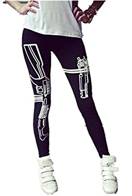 Ninimour- Fashion Letters Work Out Gun Leggings Sportswear Pants