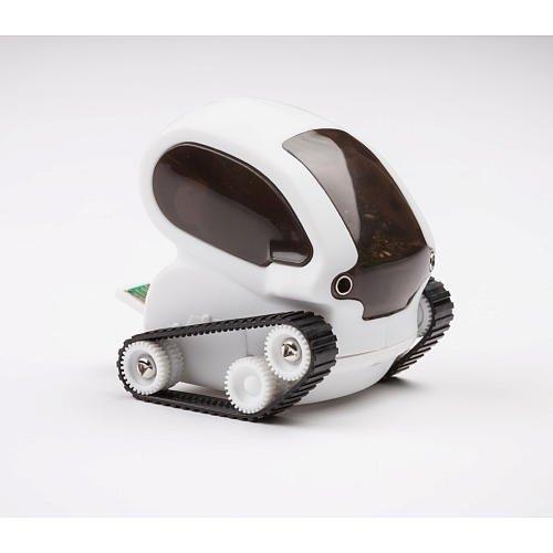 TankBot Desk Pets Futuristic Micro Robotic Tank + SmartPhone Adaptor - White