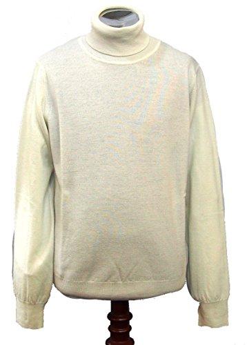 CROSSLEY(クロスリー)  イタリア製 タートルネックセーター 毛100%  White Lサイズ  白