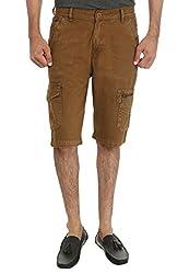 Fever Camel Cotton Denim Shorts for Man-38