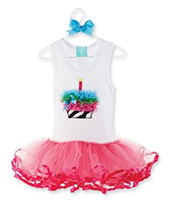 Mud Pie Wild Child Zebra Tutu Dress, Pink/White, 12-18 Months
