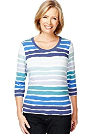 Classic Collection Painterly Striped Top
