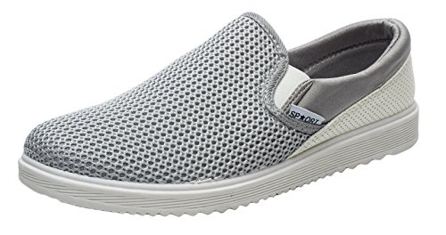 T&Mates Fashion Breathable Slip on Summer Casual Shoes(10.5 D(M) US,Grey)