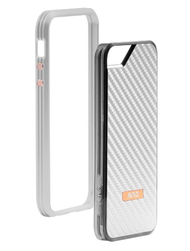 Special Sale Avivo Rail Carbonate / Apple iPhone 5 & 5S Polycarbonate Rail Carbon Case (Frost White + Ghost White Carbon Jacket)