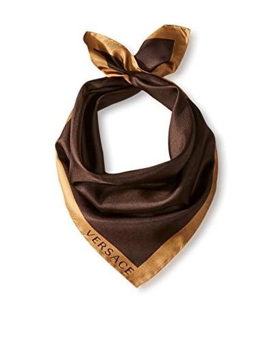 Versace Women's Plain Silk Scarf, Brown/Tan