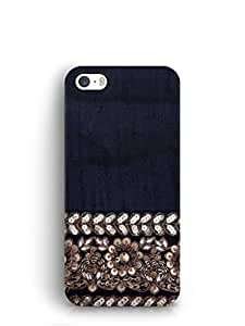 Cover Affair Embroidary Print Printed Back Cover Case for Apple iPhone 5S