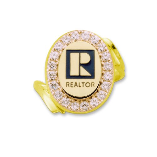 Women's Realtor 14k Professional Ring With Diamonds