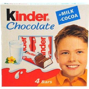 Kinder Chocolate Milk and Cocoa Chocolate Bars 1.77 Oz. 50 G. (Pack of 20)