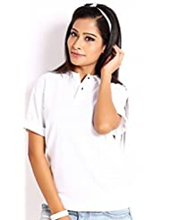 Skatti Pure Cotton White Regular Fit Polo