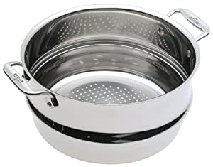 All-Clad 5708-ST Stainless Steel Professional Steamer Insert Cookware, Silver by All-Clad