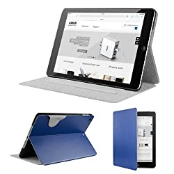 [New Release] Anker® Color Palette Series Ultra Slim Case with Multi Angle Stand for iPad Air - Synthetic Leather Folio Case Smart Cover for Apple iPad 5th gen / iPad 5 Tablet - with Auto Sleep / Wake function (blue)