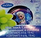 Disney Frozen Small Snack Containers ~ 4 pack (4 floz)