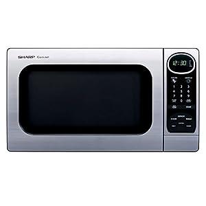 Sharp R-305KS 1-Cubic-Foot 1100-Watt Microwave Oven, Stainless