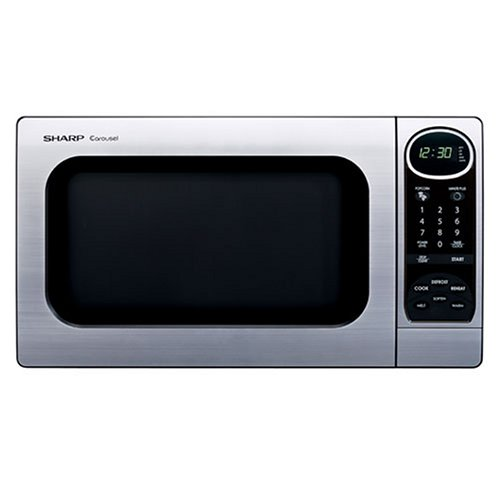 Sharp R-305KS 1-Cubic-Foot 1100-Watt Microwave Oven, Stainless