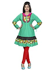 Indian Amiable Multi Layered Casual Wear Cotton Kurti By Triveni