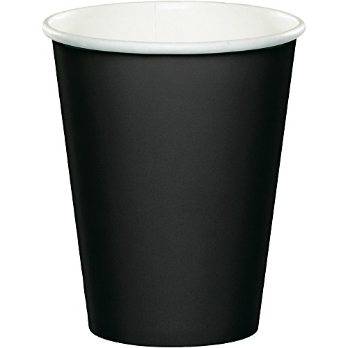 Paper Hot & Cold Cups 9 Ounces 8/Pkg-Black Velvet