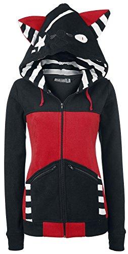 Bye Bye Kitty Star Kitty Felpa jogging donna nero/rosso XL