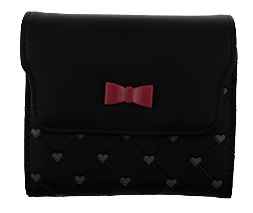 OULINBEIN Women And Girl Man-made Leather Lovely Quited Small Change Wallet Purse