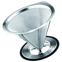 GROSCHE Ultra Mesh Pour-Over Coffee Dripper with Round Base, 18/8 Stainless Steel Construction