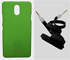 Toppings Hard Case Cover With Aux Cable For Lenovo P1M - Green