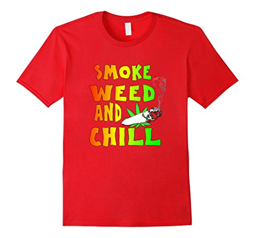 Cannabis-Smoke-Weed-and-Chill-T-Shirt