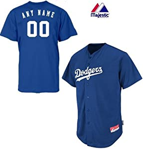 Los Angeles Dodgers Full-Button CUSTOM or BLANK BACK Major League Baseball Cool-Base... by Majestic Authentic Sports Shop