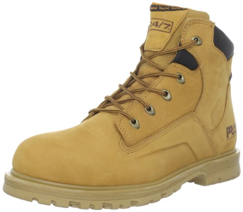 Timberland PRO Men's Magnus 6 Inches Soft Toe Work Boot,Wheat/Black,15 W US