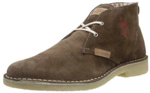 US Polo Assn Men's Amadeus3 Suede Brw Lace-Up Flats Brown Marron (Brw) 7