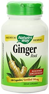 Nature's Way Ginger Root 550 mg (100 Capsules) from Nature's Way