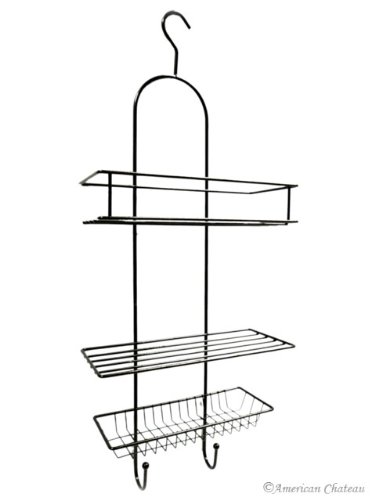 NEW EUROPEAN Oil Rubbed Bronze BATHROOM Shower Bath TUB ORGANIZER Hanging Caddy