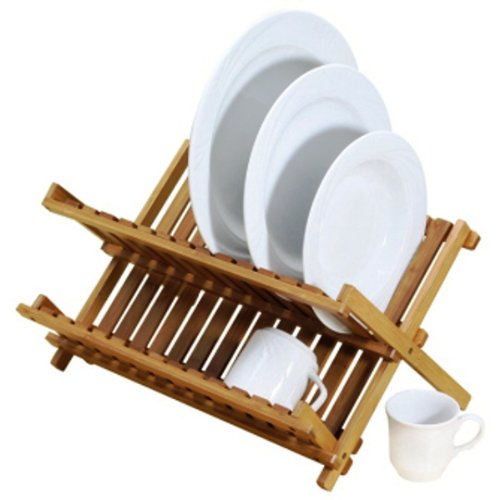 Natural Living Bamboo Collapsible Dish Rack
