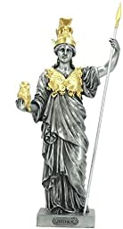 14.25 Inch Athena Goddess of Wisdom and War Figurine, Silver Color by US