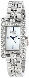 Badgley Mischka Women's BA/1269WMSB Swarovski Crystal-Accented Silver-Tone Bracelet Watch