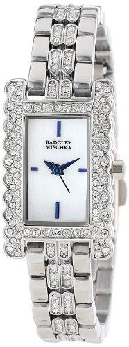 badgley-mischka-womens-ba-1269wmsb-swarovski-crystal-accented-silver-tone-bracelet-watch