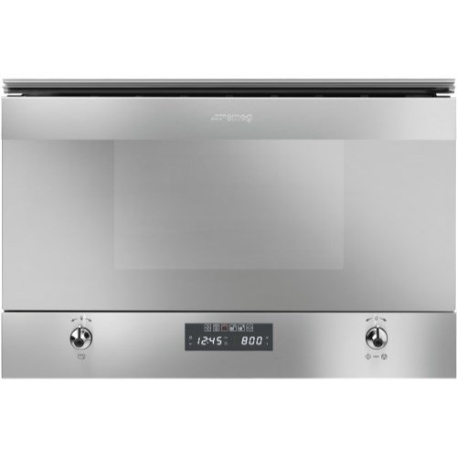 Smeg MP322X Classic Built-in Microwave Oven With Grill - Stainless Steel