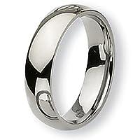 Chisel Rounded Polished Titanium Ring (6.0 mm) - Sizes 6-13.5