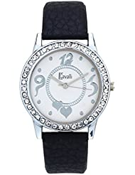 Cavalli White Dial Studded With Heart Print Analog Watch-For Women, Girls