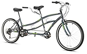 "Kent Dual Drive Tandem Comfort Bike, 18""/One Size, Blue"