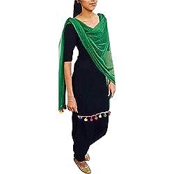 ethnic bazaar black patiala suit dress material