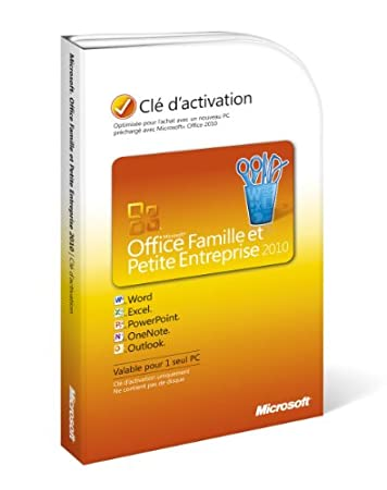 Microsoft Office Home and Business 2010 French Product Key Card (vf)