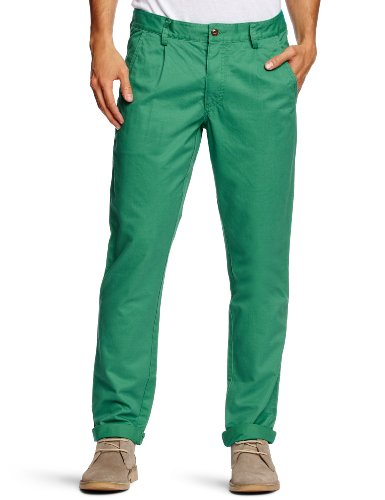 Farah Vintage The Albany Chino Relaxed Men's Trousers Dark Mint W38 INxL34 IN