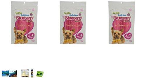 3 Packs Of Dog Snack Blueberry Jerhigh 70G.