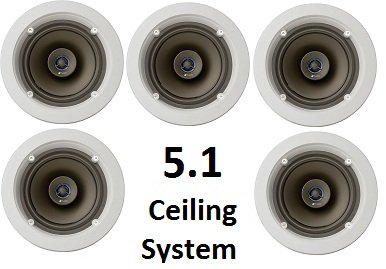 Niles 5.1 Ceiling Mount Surround Sound System - (Set of Five ...