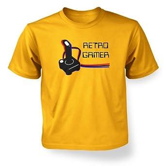 Retro Gamer Kids T-shirt - Gold 7-8 Years