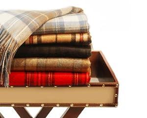 Pure Cashmere Tartan Blanket