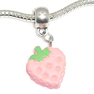 Jewelry monster silver finish dangling heart for Strawberry shortcake necklace jewelry