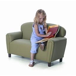 Enviro-Child Just Like Home Kids Sofa Color: Sage, Size: Preschool (Ages 3-6)