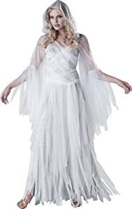 InCharacter Costumes, LLC Haunting Beauty, White/Grey, Large