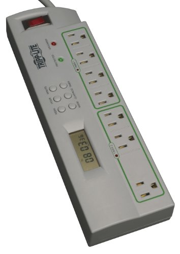 tripp-lite-7-outlet-eco-surge-protector-power-strip-with-timer-4ft-cord-75k-insurance-tlp74tg